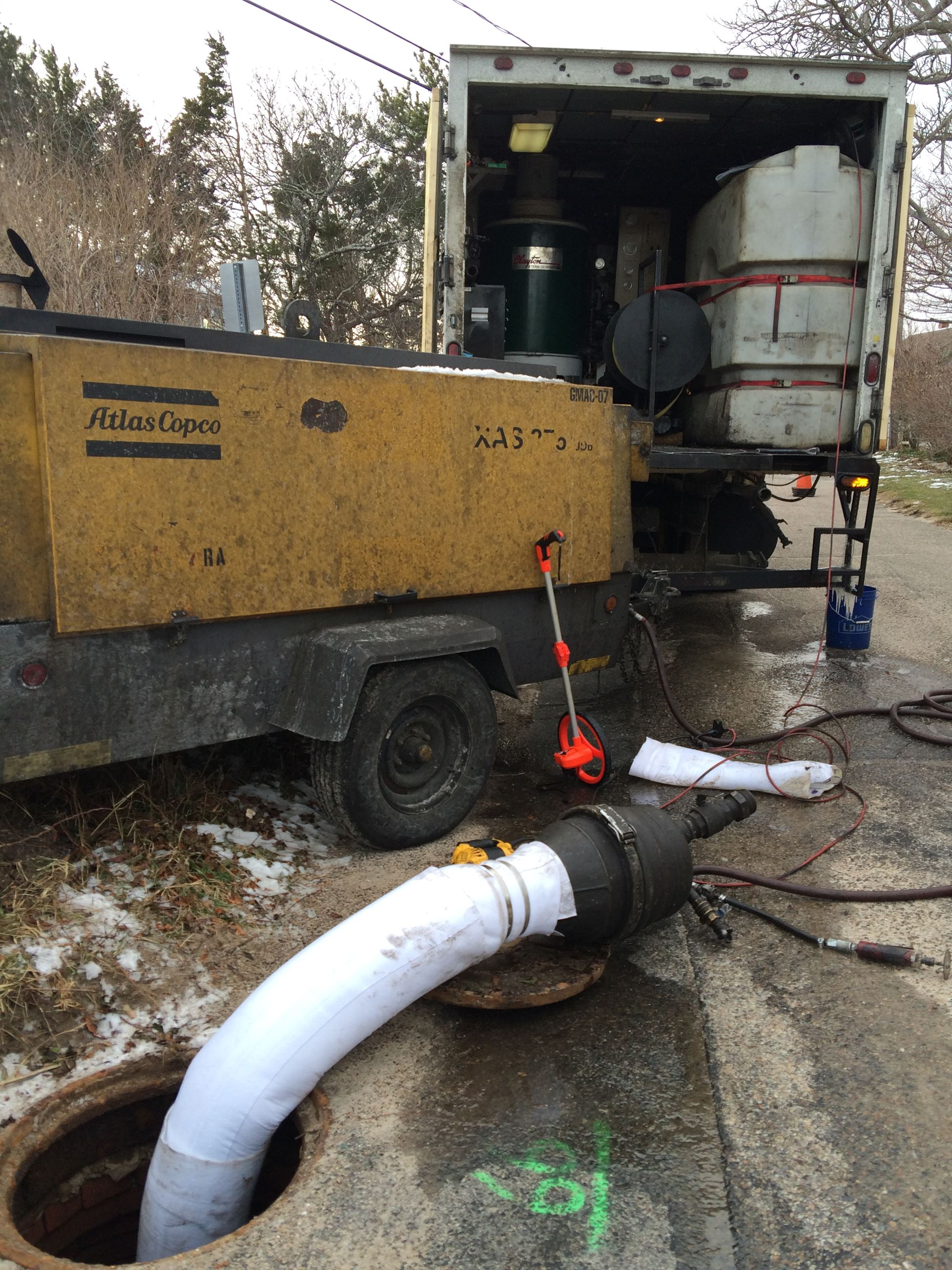 Woods Hole Sewer Pipe Liner Curing