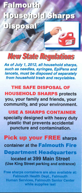 Sharps Disposal Program Flyer Page One