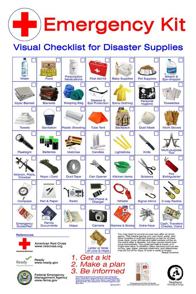 Great Visual of Emergency Kit Checklist
