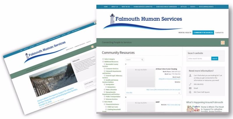 Falmouth Human Services Website Home Page