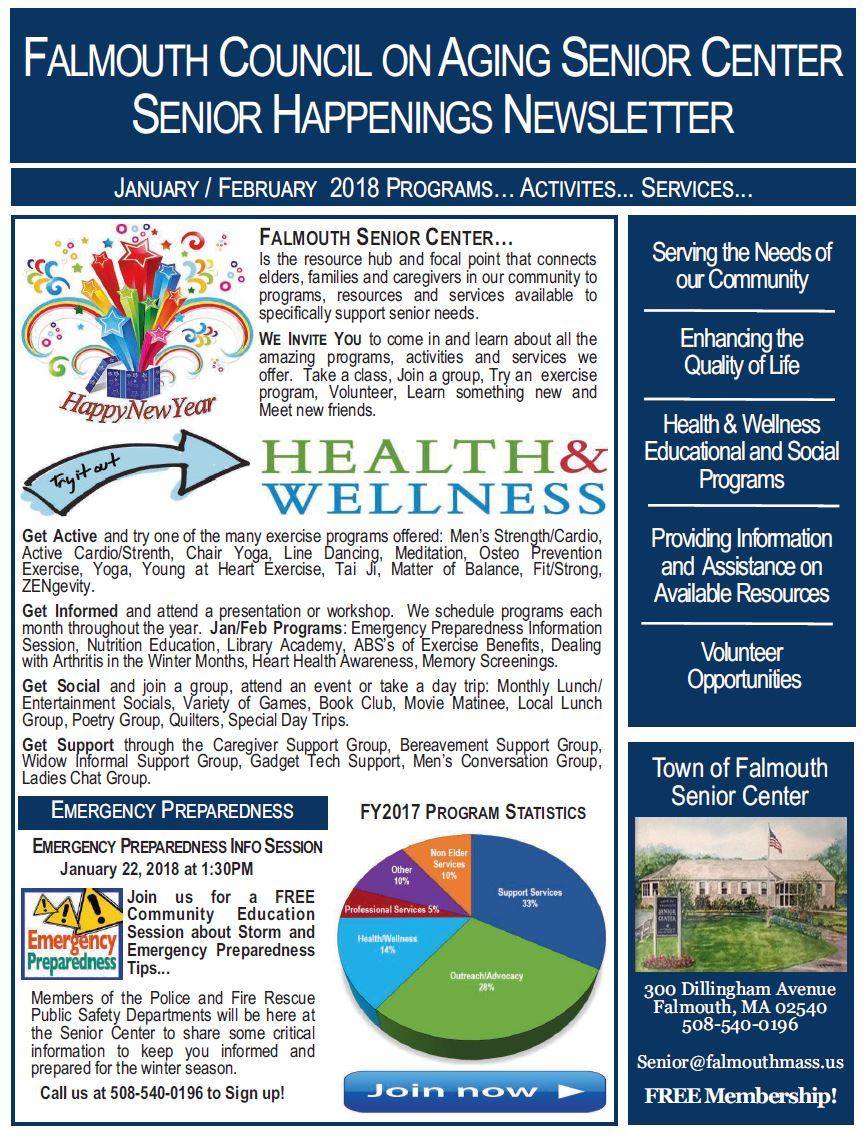 JAN/FEB 2018 Senior Happenings Newsletter