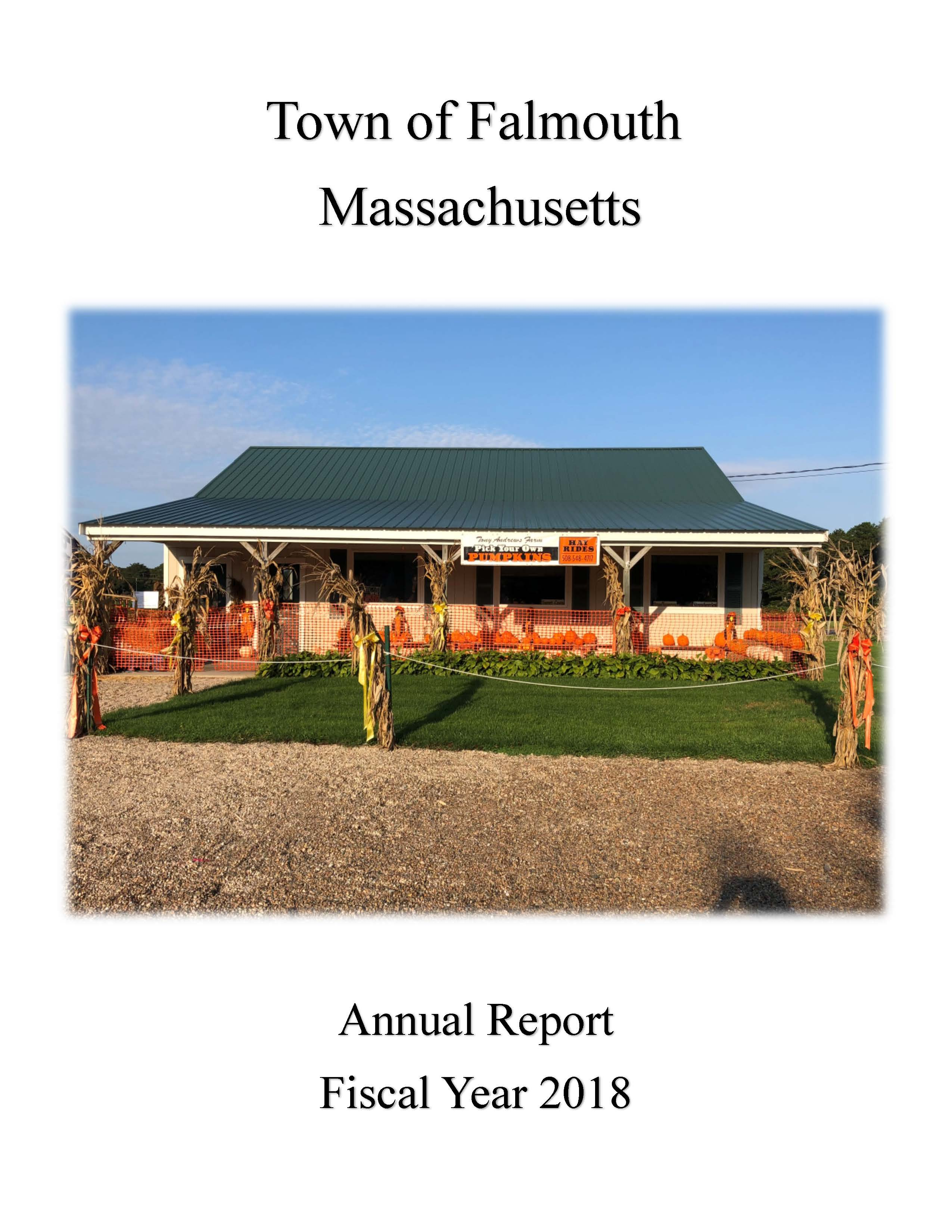 2018 Falmouth Town Report Cover Page Only