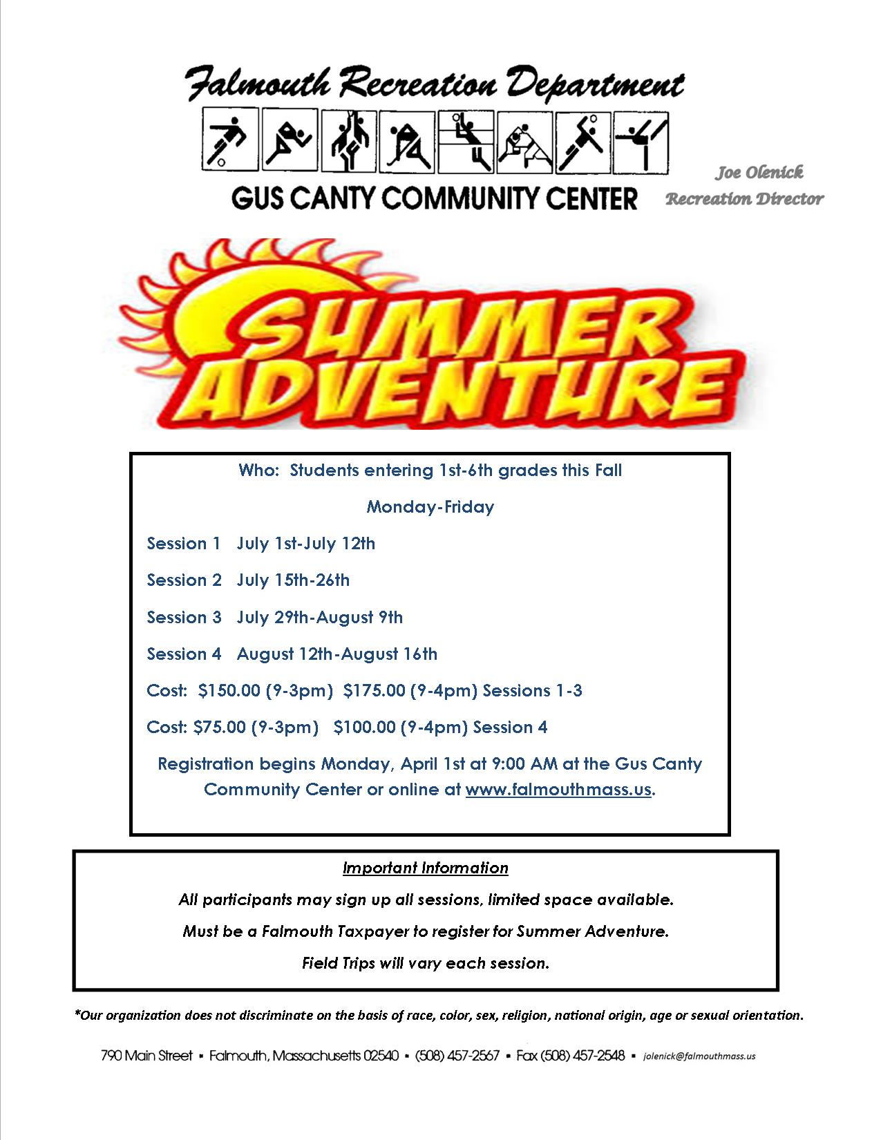 Adventure Camp Flyer Summer 2019