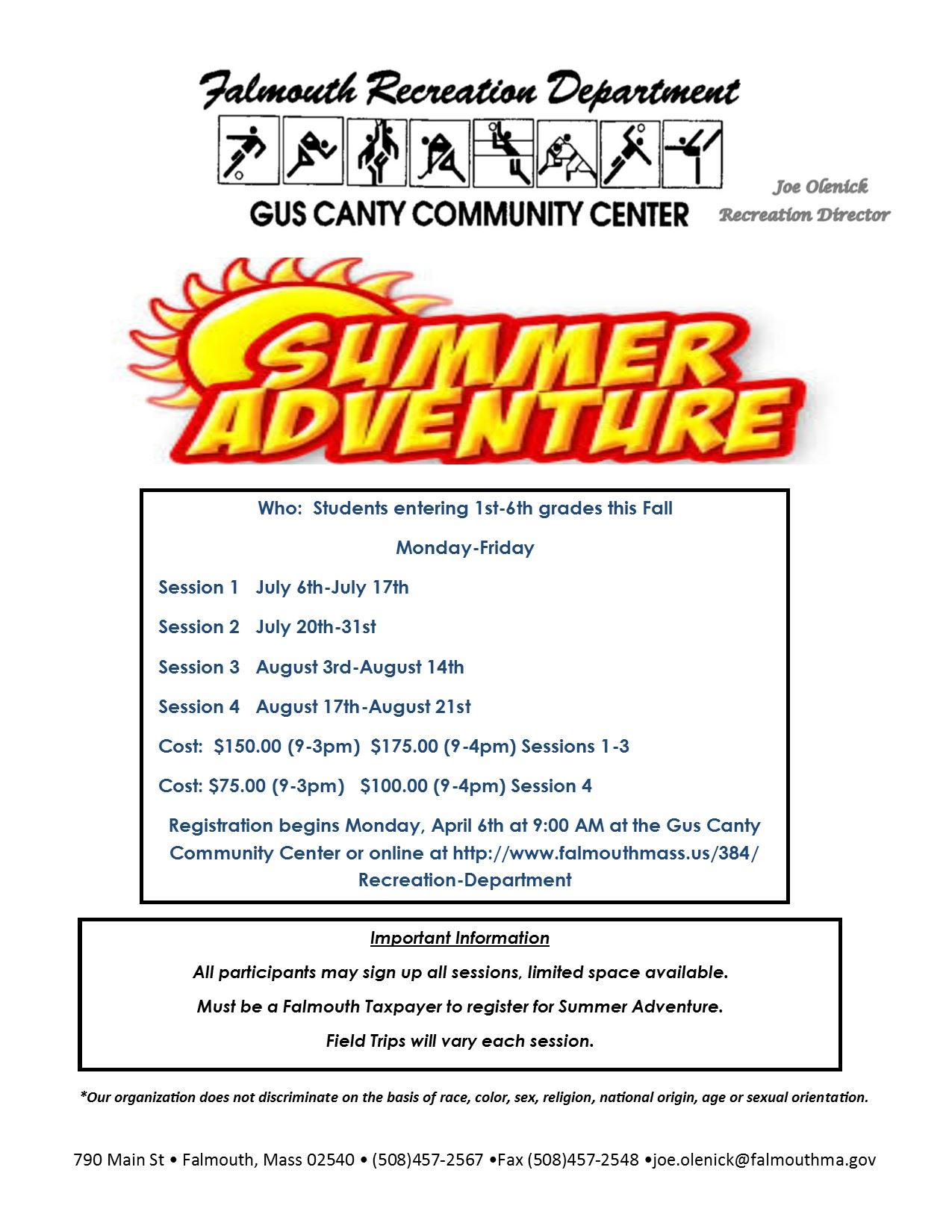 Adventure Camp Flyer Summer 2020