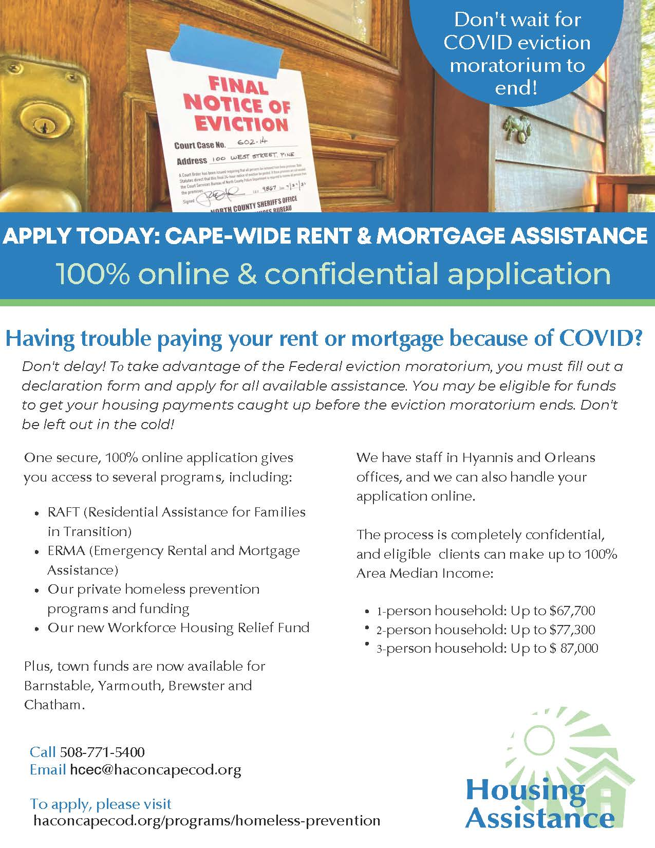 November 18 rental assistance flyer
