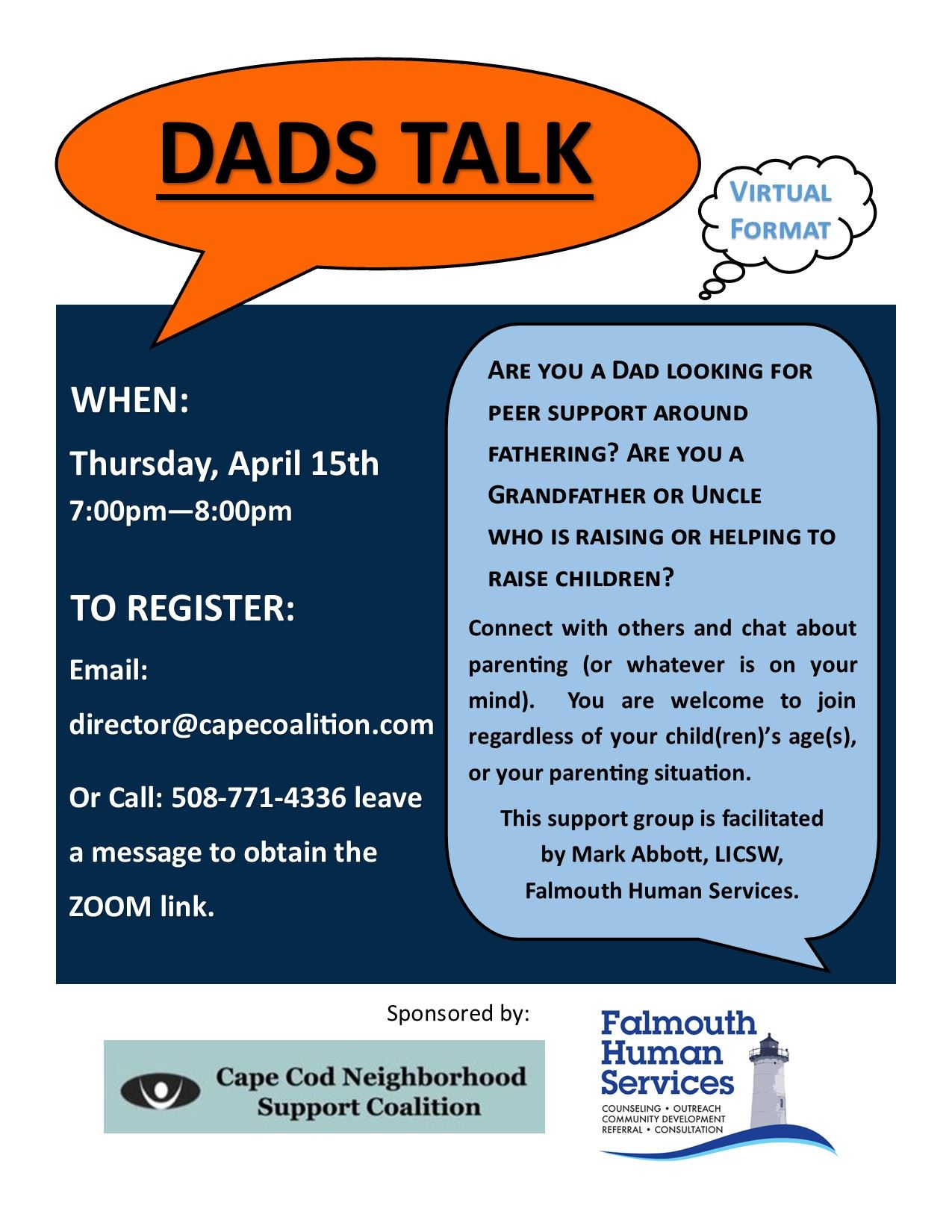 Dads Talk April 15th 2021